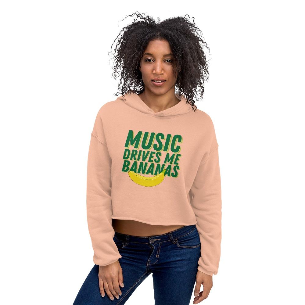 Music Drives Me Bananas: Crop Hoodie