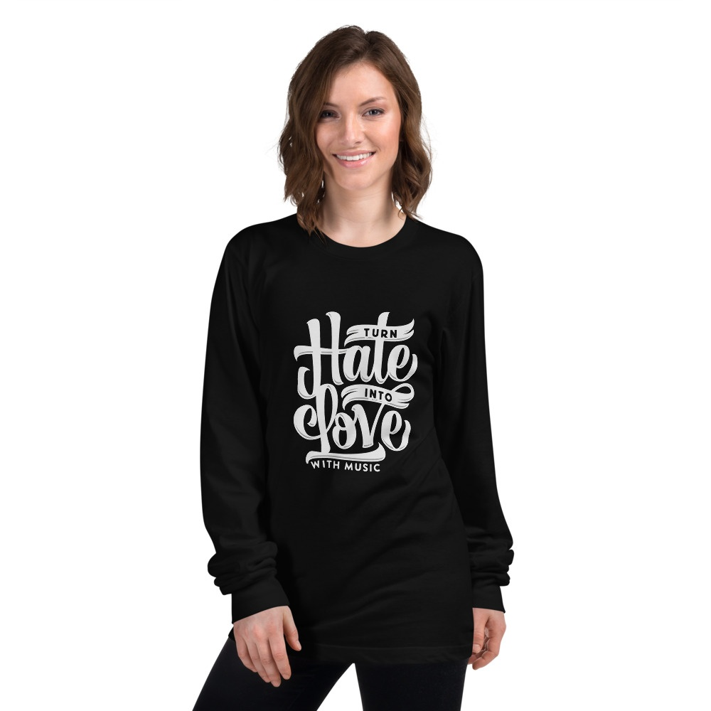 Into Love With Music: Long sleeve Shirt