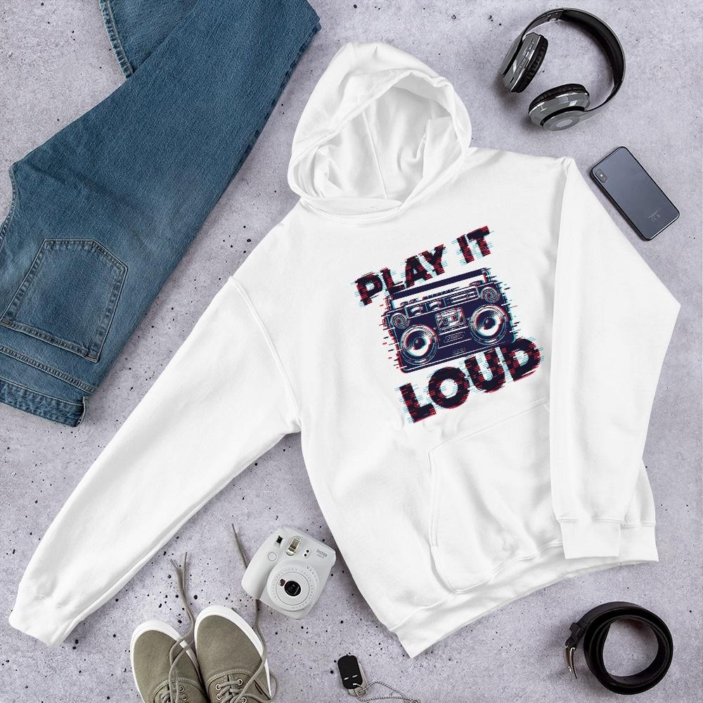 Play It Loud: Unisex Hoodie