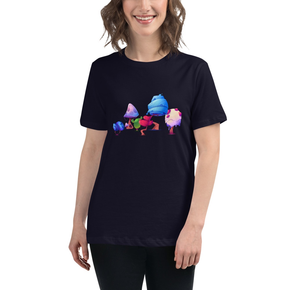 Fantastic Mushrooms: Women's Relaxed T-Shirt